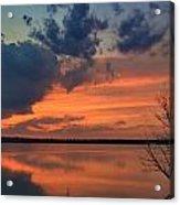 Red Lake Sky Acrylic Print