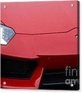 Red Lamborghini Acrylic Print