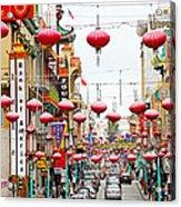 Red Lanterns Of Chinatown Acrylic Print