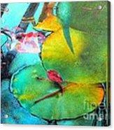 Red Leaf Acrylic Print by Robert Hooper