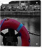 Red Lifebelt At Albert Dock 2 Acrylic Print