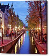 Red Light District In Amsterdam Acrylic Print