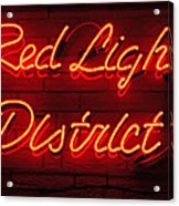 Red Light District Acrylic Print by Kiril Stanchev
