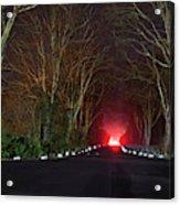 Red Light, Smoke And Flames Glowing Acrylic Print