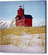 Red Lighthouse By Holland Michigan Known As Big Red Acrylic Print