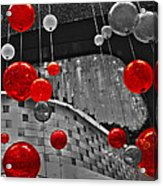 Red Lights In Vegas Acrylic Print by Gail Lawnicki