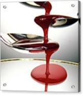 Red Liquid Fountain Acrylic Print