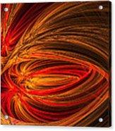 Red Luminescence-fractal Art Acrylic Print