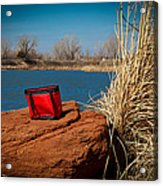 Red Lunch Bag Acrylic Print