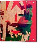 Red-mask Acrylic Print by Dorothy Rafferty