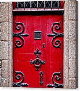 Red Medieval Door Acrylic Print