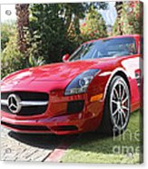 Red Mercedes Benz Acrylic Print