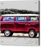 Red Microbus Acrylic Print