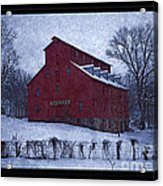 Red Mill Antique Barn Acrylic Print