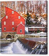 Red Mill Clinton New Jersey Acrylic Print
