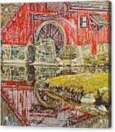 Red Mill II Acrylic Print