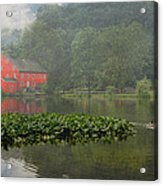 Red Mill Misty Morning Acrylic Print