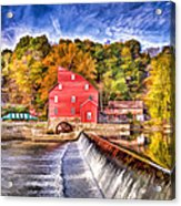 Red Mill Painted Acrylic Print