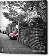 Red Mini Cooper- The Debut Acrylic Print