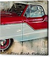 Red Mini Nash Vintage Car Acrylic Print