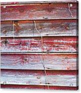 Red Mold Siding Acrylic Print