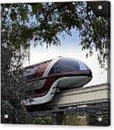 Red Monorail Disneyland 01 Acrylic Print