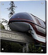 Red Monorail Disneyland 02 Acrylic Print
