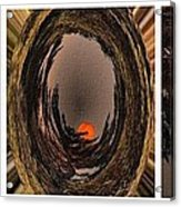 Red Moon Rising - Abstract - Triptych Acrylic Print