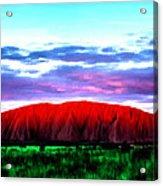 Red Mountain Sunset Acrylic Print