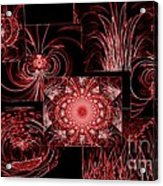Red Neon Collage Acrylic Print