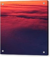 Red Night Sky By Earl's Photography Acrylic Print