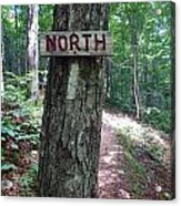 Red North Sign Acrylic Print