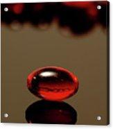Red Nurofen Capsule Acrylic Print