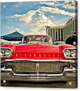 Red Oldsmobile  Acrylic Print by Merrick Imagery