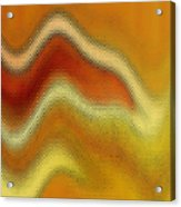 Red Orange And Yellow Glass Waves Acrylic Print