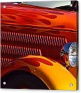 Red Orange And Yellow Hotrod Acrylic Print