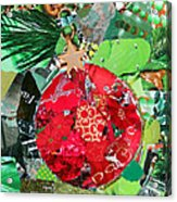 Red Ornament Acrylic Print