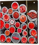 Red Palate Acrylic Print