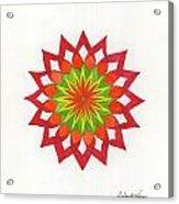 Red Passion Mandala Acrylic Print