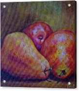 Red Pears Five Acrylic Print