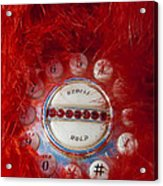 Red Phone For Emergencies Acrylic Print