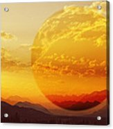 Red Planet Sunset Acrylic Print