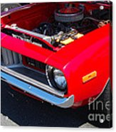 Red Plymouth Barracuda Acrylic Print