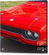 Red Plymouth Gtx Acrylic Print