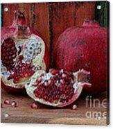 Red Pomegranate Acrylic Print