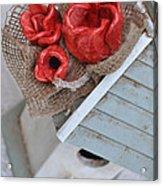 Red Poppy Inn Acrylic Print by Amanda  Sanford
