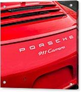 Red Porsche 911 Detail E183 Acrylic Print