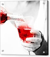 Red Red Wine Acrylic Print by Jenny Rainbow