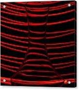 Red Rhythm Acrylic Print