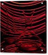 Red Rhythm II Acrylic Print by Davorin Mance